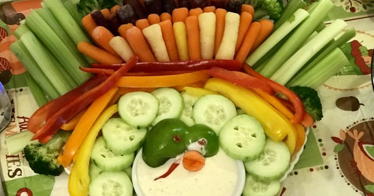 Thanksgiving Turkey Veggie Tray
