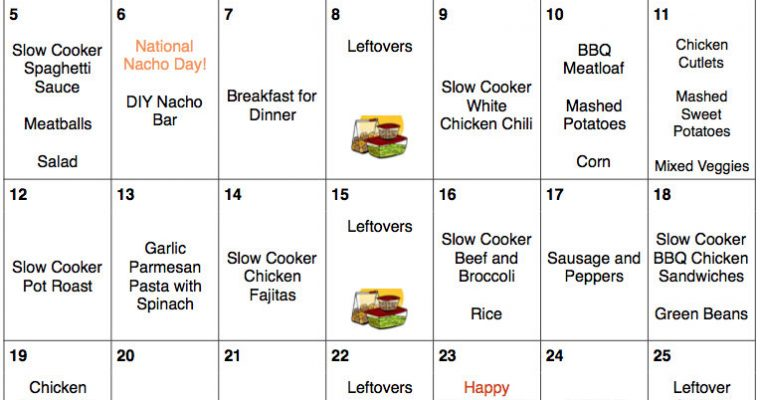 November 2017 Menu Plan – A Month of Kid-Friendly Dinners For Only $266