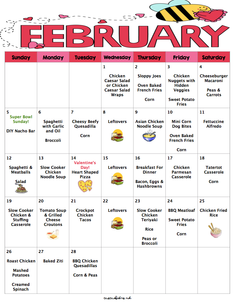 February 2017 Budget Menu Plan | 28 Days of Dinners for $231 with FREE Printable Grocery List and Recipes