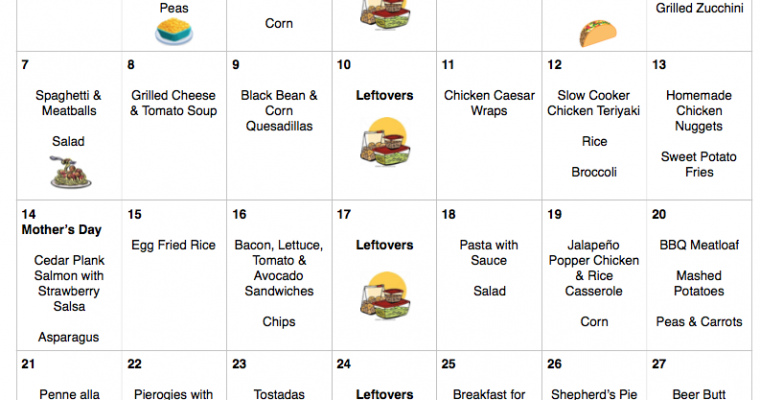 May 2017 Menu Plan   $262 For 31 Days of Kid-Friendly Dinners
