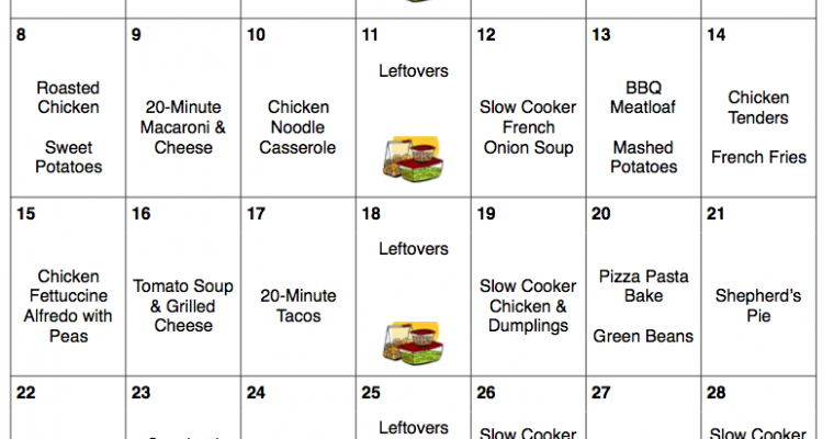 October 2017 Menu Plan & Grocery List   A Month of Meals On a Budget   31 Days of Dinners for $279   Halloween Recipes