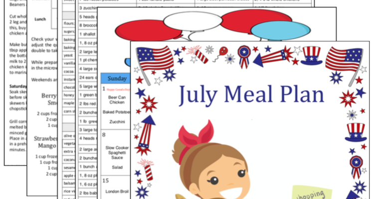 Budget Meal Plan – July 2018