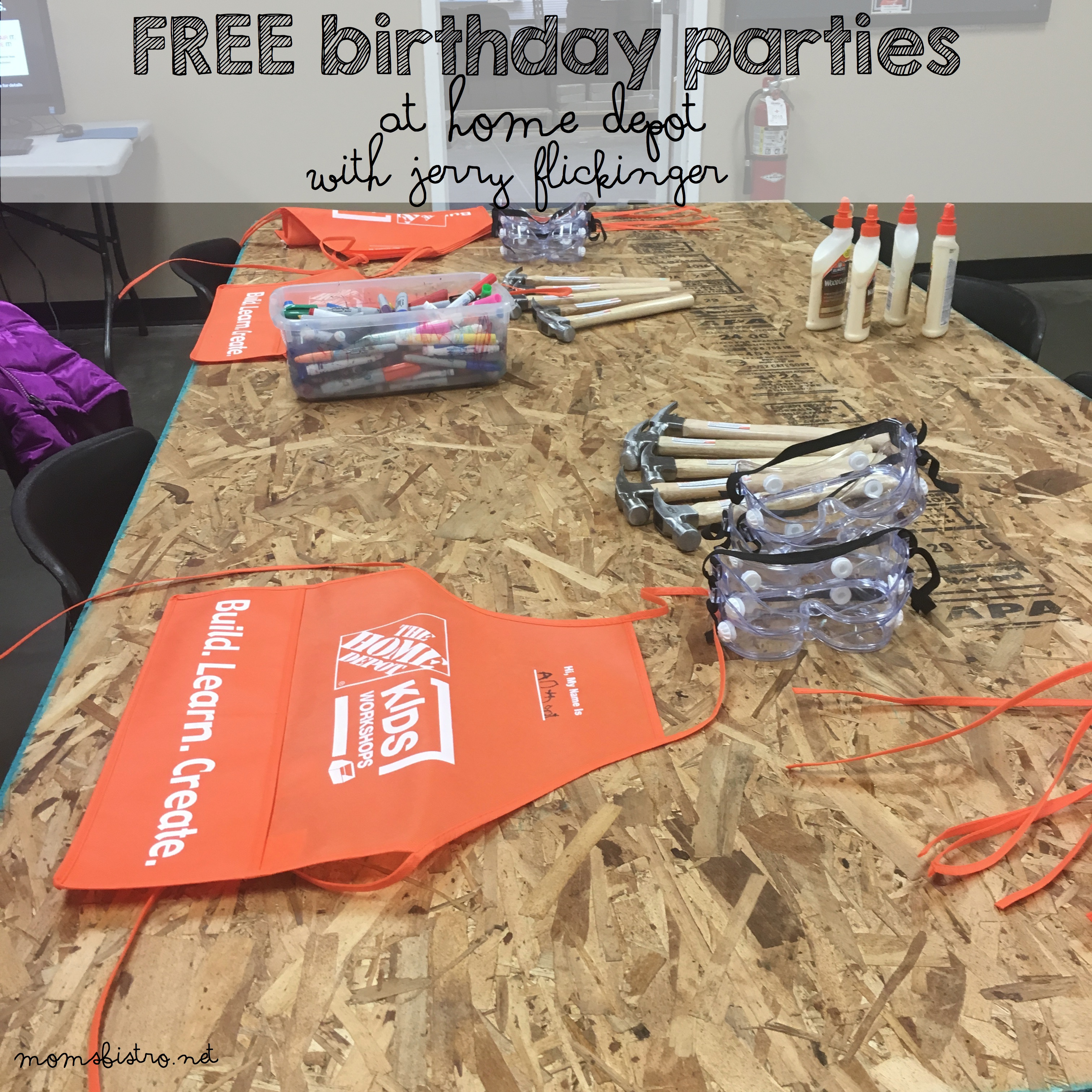 Denver Mom's Rejoice!  FREE Birthday Parties at Home Depot!